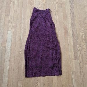 NWT boohoo maroon lace dress